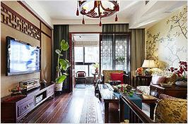 多色中式客厅设计
